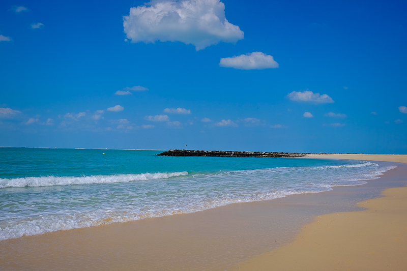 5 KM stretch of beach in Dubai before they built the Promenade