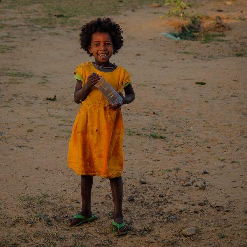 loving and smiling Ethiopian girl