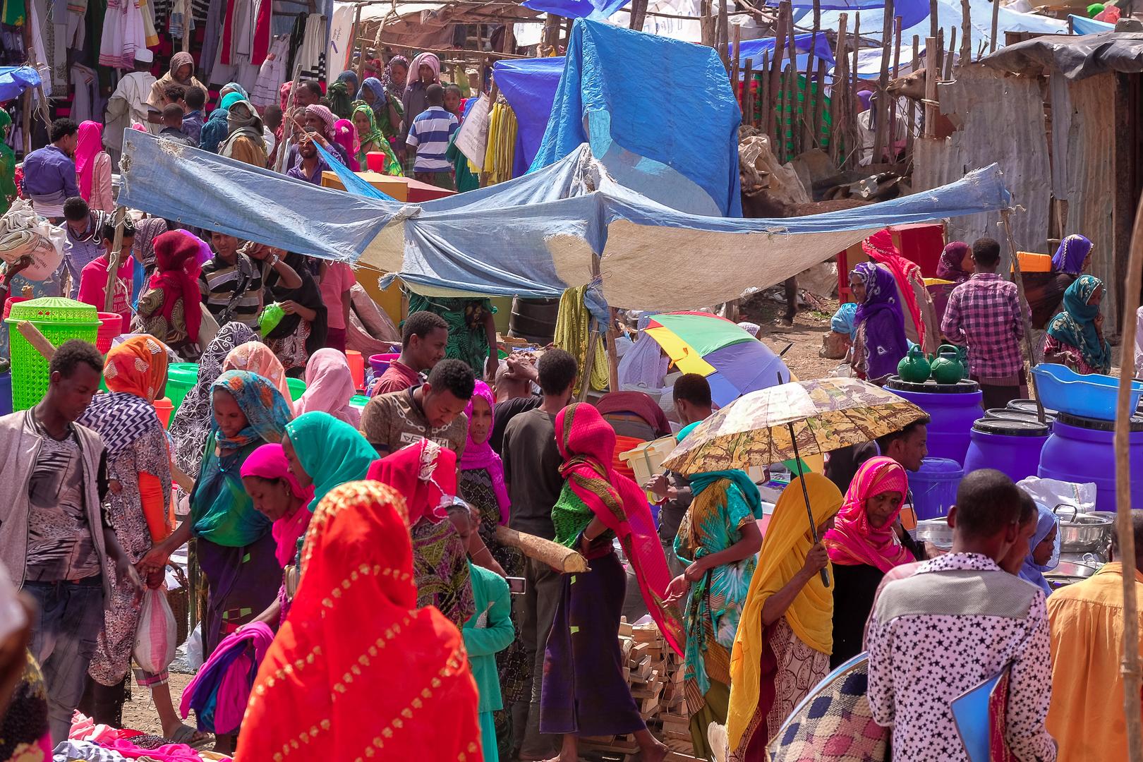 Weekly market in Bati, Ethiopia